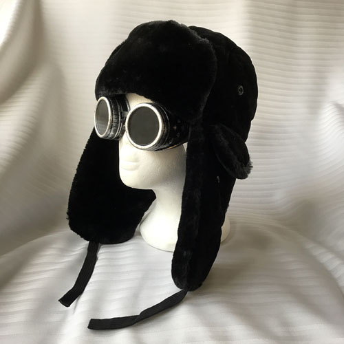 aviator trapper hat with goggles tiny top hats